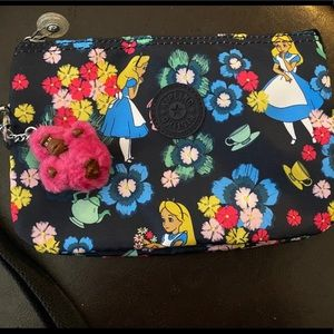 Kipling Disney Alice in Wonderland wrist pouch
